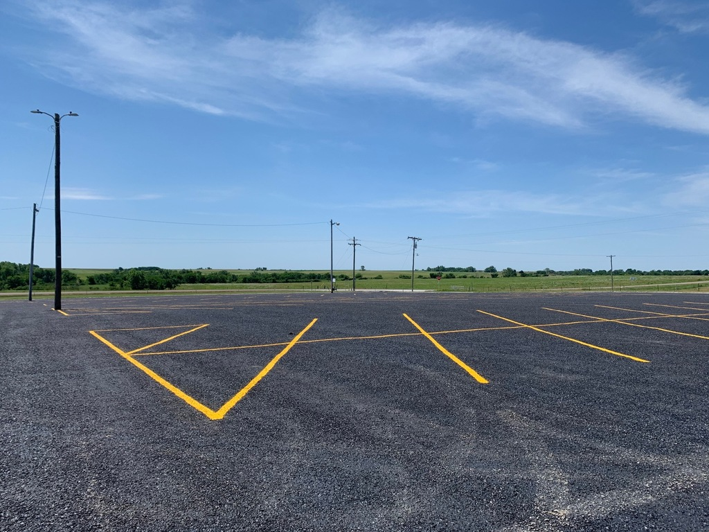 NHHS Parking Lot Resurfaced and Painted